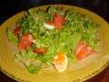 "Салат с лососем в кафе ""Угли"""