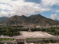 Вид на центр Лхасы